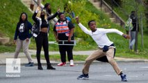 Baltimore police clash with protesters after Freddie Gray funeral