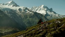 Marathon- Vu du Ciel- Tête de course au Col des Posettes - Chamonix Marathon du Mont-Blanc 2015