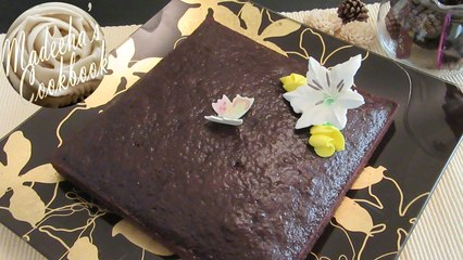 A Dense Rich Moist Fluffy Eggless Chocolate Cake (Easy & Quick Recipe)