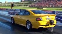 Eddy Tassone's EFI LSX powered GTO - 9.09 PB -v- Bruno Tassone XC Falcon, incl GTO in-car footage