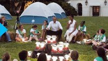 Lucky Girl Scouts Get to Hang Out With President Obama