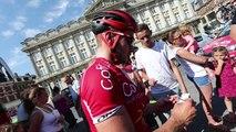 Tour de France: arrivée de Florian Sénéchal (Cofidis) à Cambrai lors de la reconnaissance d'étape Pont-à-Celles- Cambrai
