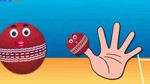 Cricket Ball Finger Family Nursery Rhymes for Children | Ball Cartoons Animation for Kids