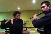 Zac Leger and Jonathon Srour - Irish flute jigs