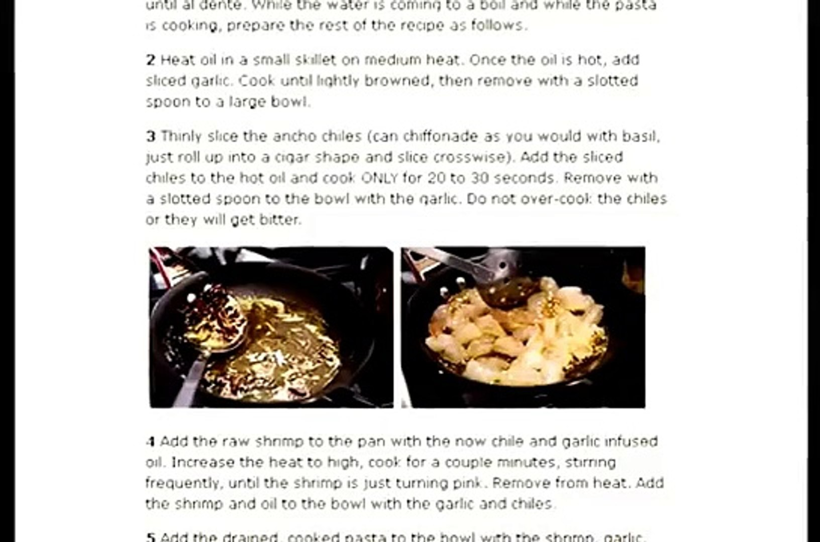 How to Make Ancho Chile, Shrimp and Pasta Recipes | pasta recipes, | quick recipes, | all recipes