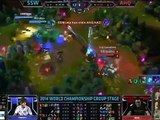 League of Legends World Championship 2014 Group A Samsung White vs AHQ E Sports Club Highlights