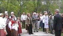 Latvian President Valdis Zatlers at the Latvian Cultural Garden in Cleveland