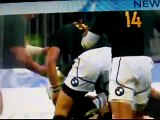 Dean Greyling Punches Richie McCaw --SLOW MOTION-- Rugby Fight punch elbow