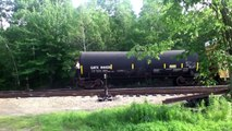 Central Maine & Quebec Railway crosses over Pan Am Railways 6/28/14