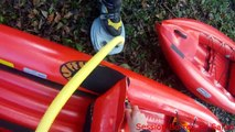 Rivière du Jura en kayak gonflable Gumotex : Safari
