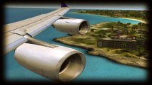 FSX TNCM Landings A340-300/600/380 and B747
