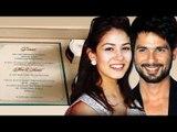 Shahid Kapoor & Mira Rajput's WEDDING INVITATION LEAKED