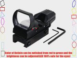 VERY100 Holographic 4 Reticle Red/Green Dot Tactical Reflex Sight Scope Fit 20mm rail