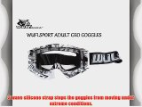 MOTORBIKE WULFSPORT ADULT GEO GOGGLES Motorcycle Motocross Off Road Enduro MX GREY Goggles