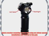 OneTigris Tactical Foregrip CREE Q5 LED Flashlight with Red Dot Laser Sight Vertical Hand Grip