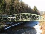 Jizera(river)-mosty s vlaky 1-sever.Bridges with trains 1-north.
