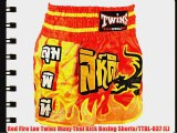 Red Fire Leo Twins Muay Thai Kick Boxing Shorts/TTBL-037 (L)