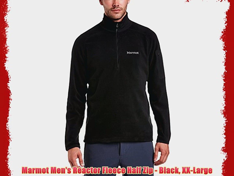 ba1ba269c6 Marmot Men's Reactor Fleece Half Zip - Black XX-Large