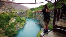 Extreme Bungy Jumping with Cliff Jump