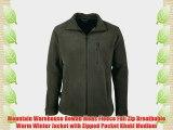 Mountain Warehouse Rowan Mens Fleece Full Zip Breathable Warm Winter Jacket with Zipped Pocket