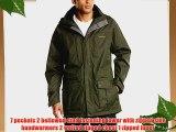 Craghoppers Men's Kiwi Long Waterproof Jacket - Dark Cedar Large