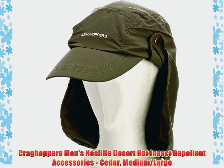 3bc51ae71 Craghoppers Men's Nosilife Desert Hat Insect Repellent Accessories - Cedar  Medium/Large