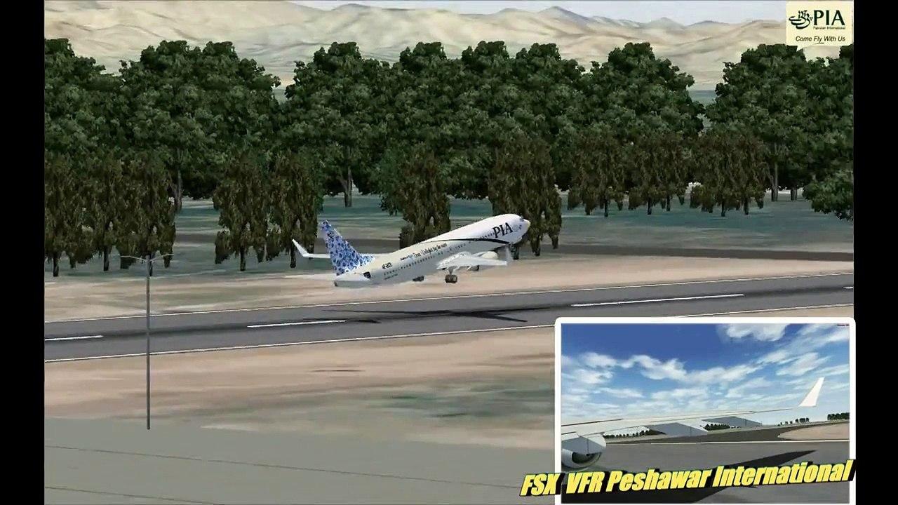Landing Takeoff at Peshawar - Scenery Project Virtual Pakistan FSX Video