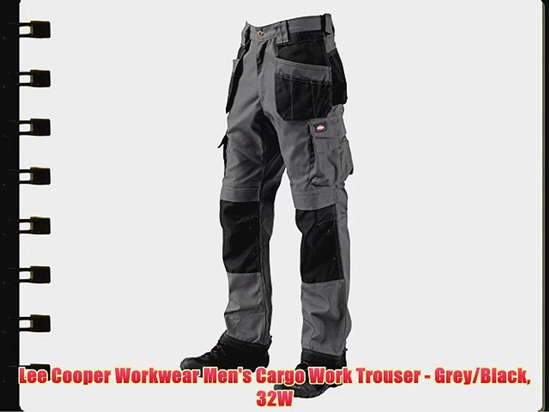 Lee Cooper Workwear Cargo Trousers Pants Combat MENS Black COLOURS VARIOUS Grey