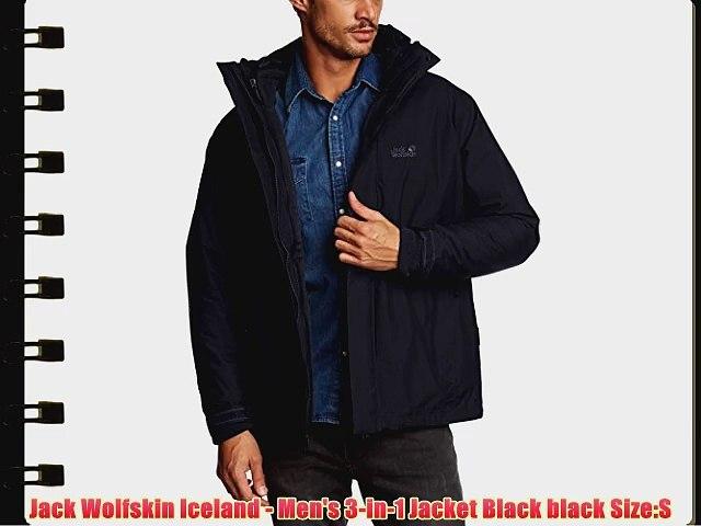 3 Black Iceland Wolfskin In Jacket Jack Men's Size 1 HE2WDI9