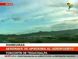 Golpistas evitan aterrizaje avion de Mel Zelaya Coup in Honduras