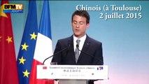 Manuel Valls parle mandarin aux investisseurs chinois