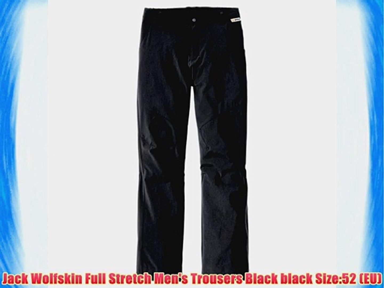 Jack Wolfskin Full Stretch Men's Trousers Black black Size:52 (EU)
