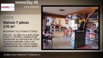 A vendre - maison - BEAUMONT DU GATINAIS (77890) - 7 pièces - 270m²