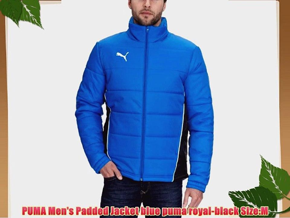 6d964161d PUMA Men's Padded Jacket blue puma royal-black Size:M