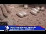 Guatemaltecos detenidos con óvulos de heroína esperan medidas cautelares