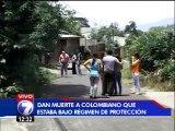 Asesinan a colombiano que estuvo bajo régimen de protección a testigos