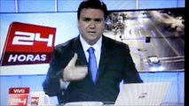 Chile Earthquake Shakes News Station As News Reporters On Air 6.5 Magnitude 4 /17/2012