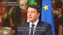 Italian PM, Renzi, calls for a concerted international effort to block people traffickers   Reuters