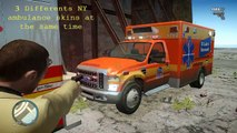 GTA IV -  NY total pack , vehicles , uniforms , Flashing Lights , WTC , McDonald , etc...