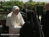 Benedict XVI visits a convent of cloistered nuns