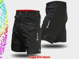 Deko MTB Baggy Mountain Bike Shorts for Off Road Cycling Black (Large)