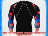 Fixgear Sports Mens Womens Compression Black Base Layer Long Sleeve T-Shirt L
