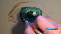 How to Draw with Pastel Pencils- Eye Demonstration