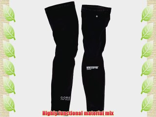 Gore Bike Wear Universal SO Knee Warmer Windstopper Soft Shell Size XL Black NWT