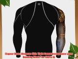 Fixgear Mens Womens Skin Tight Compression Base Layer Running Black Tee Shirts XL