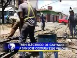 Tren eléctrico de Cartago a San José costaría $250 millones