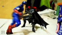 Batman & Captain America beat the Joker in Action Figures Stop-Motion Animation