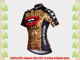 Lance Sobike Women's Cycling Jersey Cycling Gear Short Sleeves-Panther Lady (Large)