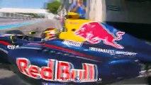 Jean-Eric Vergne, pilote de Formule 1, à Sophia-Antipolis avant le grand prix de Monaco