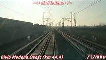 Alta Velocità Bologna - Milano 2° Tratto Treno Prove Archimede (dalla cabina)
